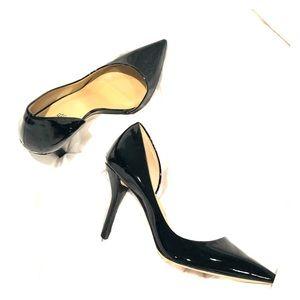 Michael Kors Glossy Black Stiletto Shoes Size 9